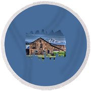 Mt. Adams Round Beach Towel by Thom Zehrfeld