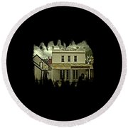 The Eagle Theater And Skalet Family Jewelers Old Sacramento Round Beach Towel by Thom Zehrfeld