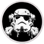 Pirate Trooper Round Beach Towel by Nicklas Gustafsson