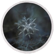 Round Beach Towel featuring the photograph Snowflake Photo - Rigel by Alexey Kljatov