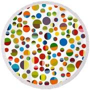 Found My Marbles 2.0 Round Beach Towel by Michelle Calkins