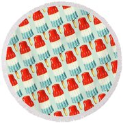 Bomb Pop Pattern Round Beach Towel by Kelly Gilleran