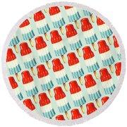 Bomb Pop Pattern Round Beach Towel by Kelly Gilleran
