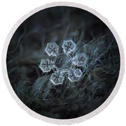 Round Beach Towel featuring the photograph Icy Jewel by Alexey Kljatov
