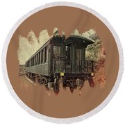 Virginia City Pullman Car Round Beach Towel