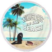 Summer Days Round Beach Towel
