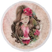 Round Beach Towel featuring the drawing Make A Wish  by Sheena Pike