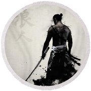 Ronin Round Beach Towel by Nicklas Gustafsson