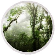 Cloud Forest Round Beach Towel