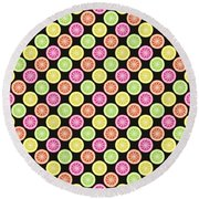 Colorful Citrus Slices Round Beach Towel by MM Anderson