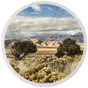Great Sand Dunes National Park And Preserve Round Beach Towel by Bill Kesler