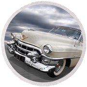 Cream Of The Crop - '53 Cadillac Round Beach Towel