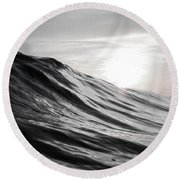 Motion Of Water Round Beach Towel