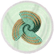 Octopus Shell Abstract Round Beach Towel