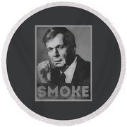 Smoke Funny Obama Hope Parody Smoking Man Round Beach Towel