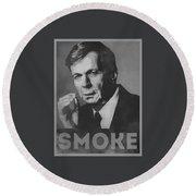 Smoke Funny Obama Hope Parody Smoking Man Round Beach Towel