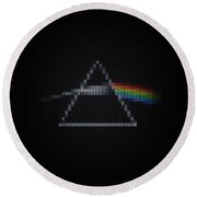 The Dark Side Of The Ugly Christmas Sweater Cool Dark Side Of The Moon Music Parody Round Beach Towel