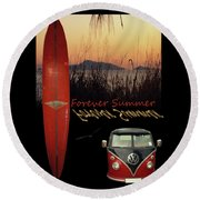 Forever Summer 1 Round Beach Towel