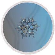 Snowflake Photo - Flying Castle Round Beach Towel