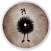 Gothic Wondering Evil Bug Character Round Beach Towel