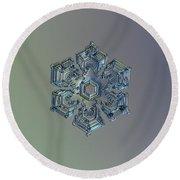 Snowflake Photo - Silver Foil Round Beach Towel