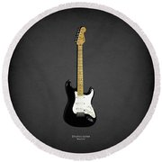 Fender Stratocaster Blackie 77 Round Beach Towel