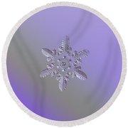 Snowflake Photo - Heart-powered Star Round Beach Towel