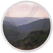 Round Beach Towel featuring the photograph Rolling Hill Country by Felipe Adan Lerma