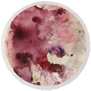 Garnet Color Splash Round Beach Towel