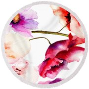 Flowers 02 Round Beach Towel