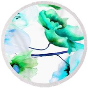 Flowers 05 Round Beach Towel