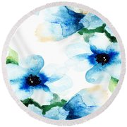 Flowers 06 Round Beach Towel