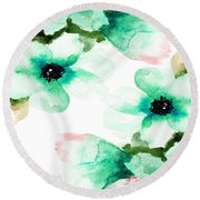 Flowers 07 Round Beach Towel