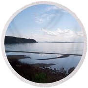 Round Beach Towel featuring the photograph Rock Point North View Horizontal by Felipe Adan Lerma