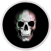 Round Beach Towel featuring the digital art Italian Skull by Nicklas Gustafsson