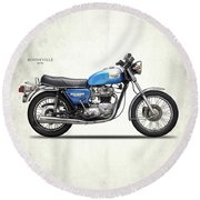 Bonneville T140 1979 Round Beach Towel