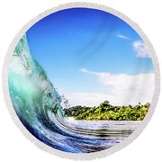 Round Beach Towel featuring the photograph Tropical Wave by Nicklas Gustafsson