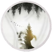 Round Beach Towel featuring the photograph Soul Of Nature by Nicklas Gustafsson