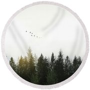 Round Beach Towel featuring the photograph Forest by Nicklas Gustafsson