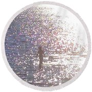 Round Beach Towel featuring the photograph From The Sea Detail by Felipe Adan Lerma