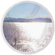 Round Beach Towel featuring the photograph From The Sea by Felipe Adan Lerma