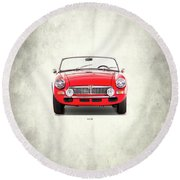 The Mgb Roadster Round Beach Towel