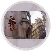 Angles And Details At Place Saint Andre Des Arts Poster Round Beach Towel by Felipe Adan Lerma