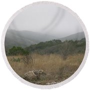 Round Beach Towel featuring the photograph Road To Lost Maples by Felipe Adan Lerma