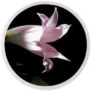 Lovely Lilies Bird In Flight Round Beach Towel by Felipe Adan Lerma