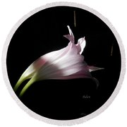 Round Beach Towel featuring the photograph Lovely Lilies Couple Embraced by Felipe Adan Lerma