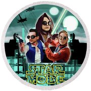 Star Mode - Star Wars And Depeche Mode Round Beach Towel