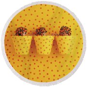 Spotted Pots Round Beach Towel