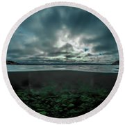 Round Beach Towel featuring the photograph Hostsaga - Autumn Tale by Nicklas Gustafsson