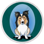 Kiniart Sheltie Round Beach Towel